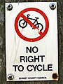 No Right To Cycle - geograph.org.uk - 899827.jpg