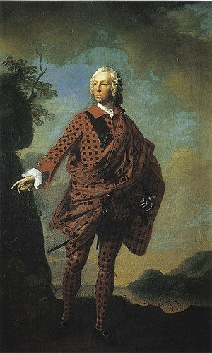 Norman MacLeod (The Wicked Man) - Portrait of Norman MacLeod, circa 1747, by Allan Ramsay