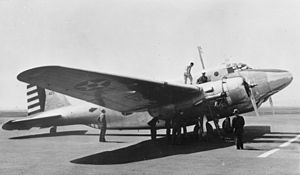 North American XB-21 - The XB-21 prototype undergoing maintenance