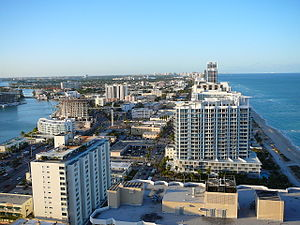 North Beach (Miami Beach) - Most of the North Beach area as seen from the Akoya Condominiums facing north, 2008