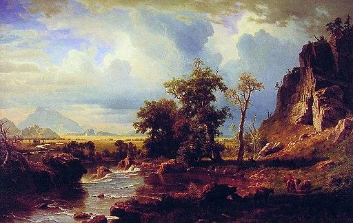 """North Fork of the Platte Nebraska"" by Albert Bierstadt"