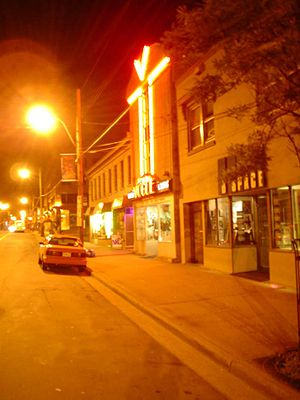 North End, Halifax - Gottingen Street at night.
