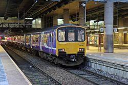 Northern Rail Class 150, 150149, platform 4, Manchester Victoria railway station (geograph 4500568).jpg
