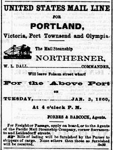 Northerner Sailing Notice DailyAlta January 3 1860.jpg