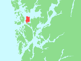 Location in Hordaland county