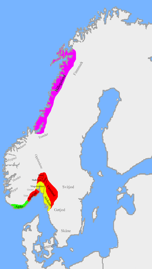 Unification of Norway - Image: Norwegian petty kingdoms ca. 820