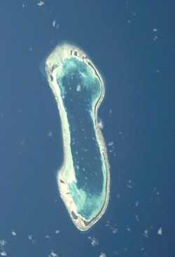 Nukulaelae atoll from space