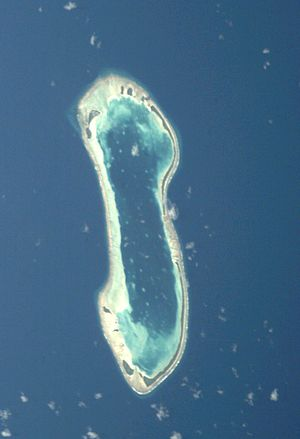 Nukulaelae - Nukulaelae atoll from space
