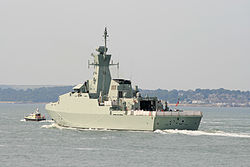 ONS Al Rahmani outward bound from Portsmouth Naval Base