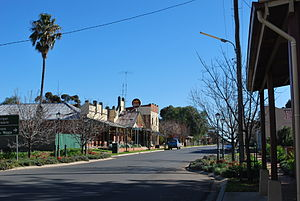 Oaklands, New South Wales - Milthorpe Street, the main street of Oaklands