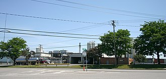 Batavia, New York - Oatka Milk plant still processes milk from area dairy farms which are fewer but larger in recent times.