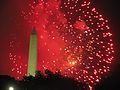 Obelisk and Fireworks of Fourth of July in Washington D.C.JPG