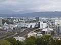 Odawara station from the castle tower.jpg