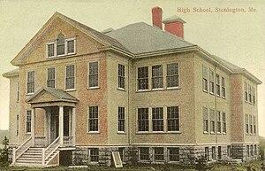 Stonington, Maine - Old High School c. 1910