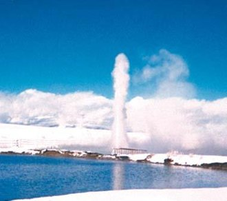 Goose Lake Valley - Old Perpetual geyser at Hunter's Hot Springs