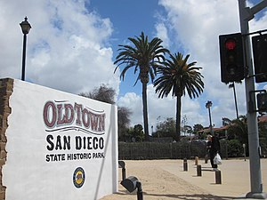 Old Town, San Diego - The entrance of Old town