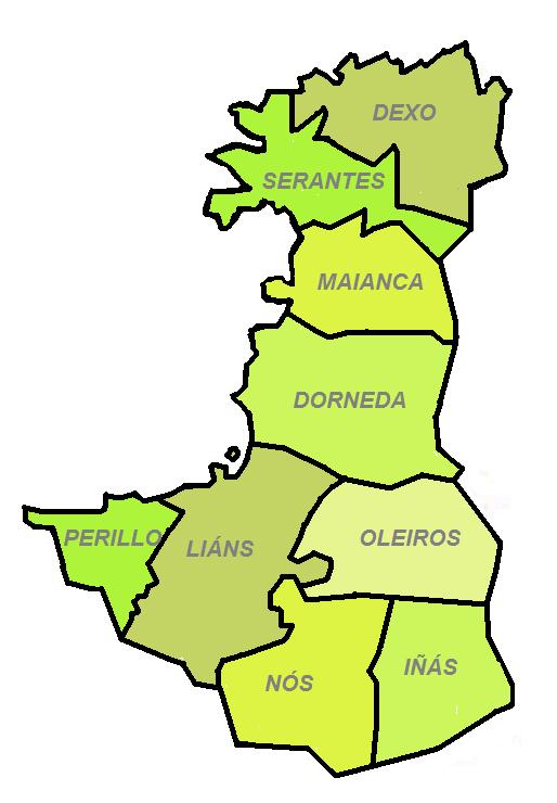 Oleiros parroquias