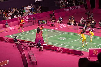 Badminton - Image: Olympics 2012 Mixed Doubles Final