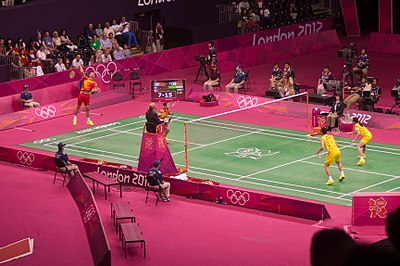 Picture of a game: Badminton