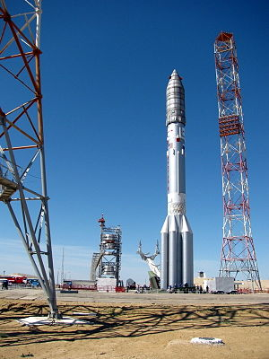 Proton-M - Image: On the launch pad