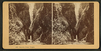 Oneonta Gorge - Image: Oneonta Gorge, Oregon, from Robert N. Dennis collection of stereoscopic views
