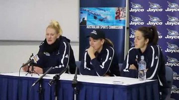 File:Opals press conference at AIS with Lauren Jackson, Carrie Graf and Jenna O'Hea (part 2).ogv