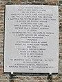 Oratorio della Santissima Trinità, lato esterno, lapide (Pernumia).jpg