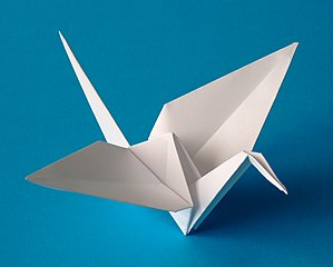 Image: An origami crane