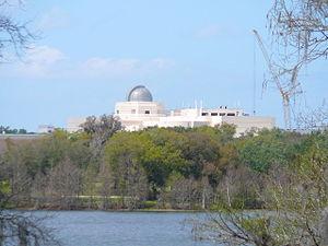 Orlando Science Center - The Orlando Science Center as seen from Harry P. Leu Gardens