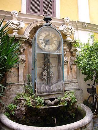 Pincian Hill - Image: Orologio ad acqua di padre Embriaco a palazzo Berardi