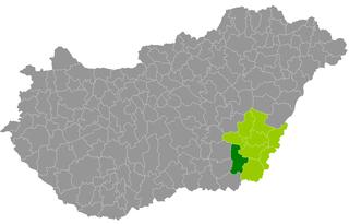 Orosháza District Districts of Hungary in Békés