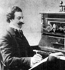Oscar Straus al piano l'any 1901