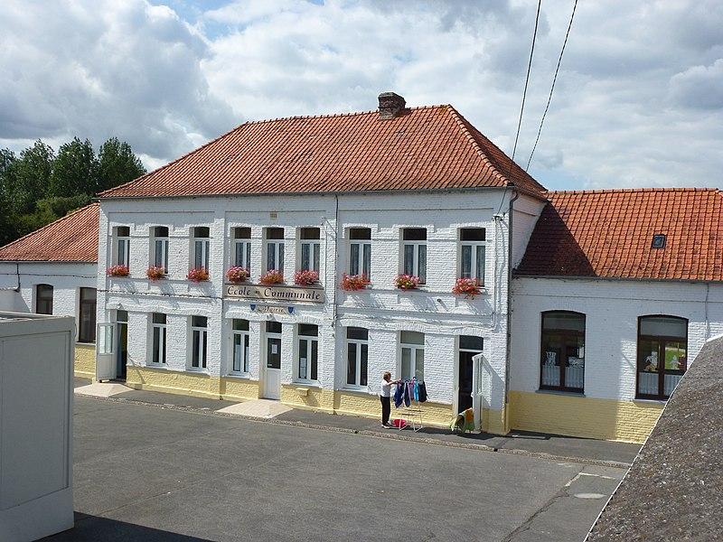 File:Ouve-Wirquin (Pas-de-Calais) mairie et école.JPG