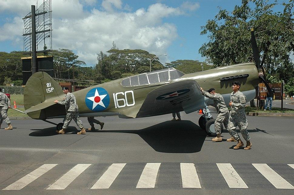 P-40 movie prop at Wheeler