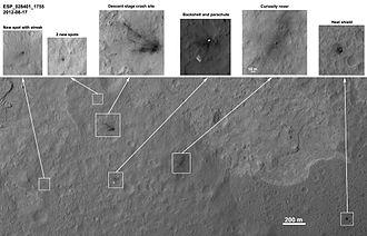 Bradbury Landing - Image: PIA15696 Hi RISE MSL Sol 11 2 br 2