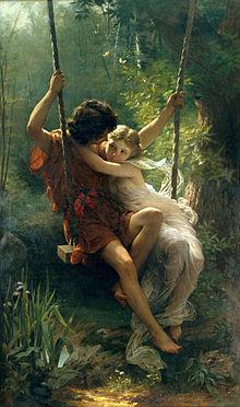 La primavera (1873), di Pierre Auguste Cot.