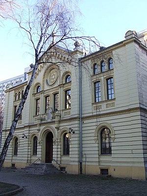 Nożyk Synagogue - Image: PL Warsaw Synagoga Twarda front