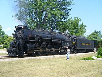 The Polar Express (film) - Pere Marquette locomotive 1225, the basis for the Polar Express.