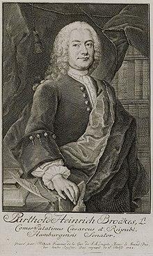 Brockes. Kupferstich von ChristianFritzsch (1695–1769), 1744 (Quelle: Wikimedia)