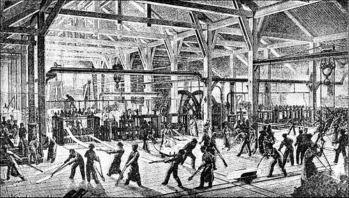 PSM V38 D611 Interior of a rolling mill 1855.jpg