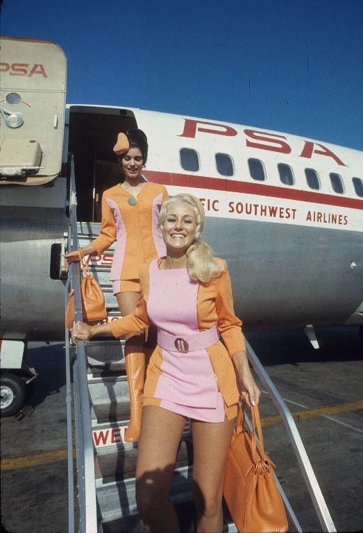 Pacific Southwest Airlines female flight attendants