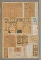 Page from a Scrapbook containing Drawings and Several Prints of Architecture, Interiors, Furniture and Other Objects MET DP372074.jpg