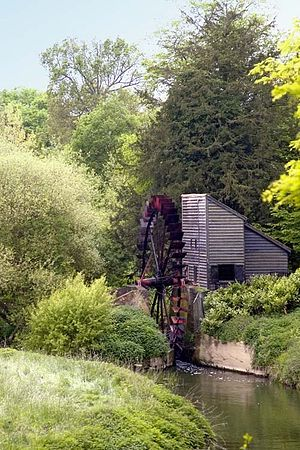 River Mole - Painshill Park Waterwheel (on its millstream channel)