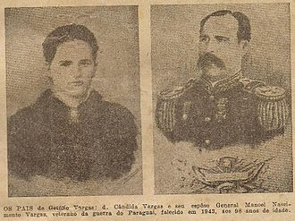 Getúlio Vargas - Getúlio Vargas' parents: Cândida and Manuel Vargas