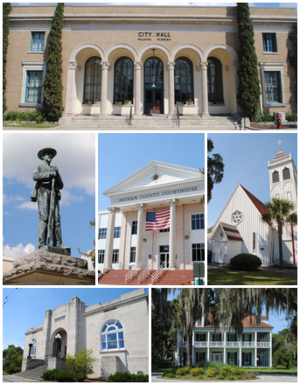 Images top, left to right: City Hall, Confederate Memorial, Putnam County Courthouse, St. Mark's Episcopal Church, Larimer Memorial Library, Bronson-Mulholland House