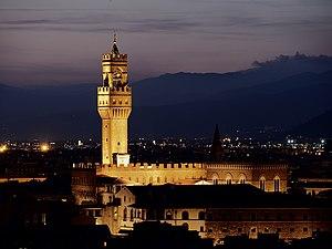 Ciompi Revolt - Palazzo Vecchio by night.
