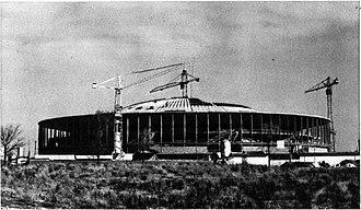 PalaLottomatica - Palazzo dello Sport during its construction in February 1959