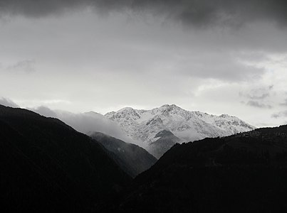 A panorama view from the town of Rodengo-Rodenek in South Tyrol (italy)
