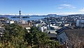 Panorama view of central Leirvik town on Stord Island, Norway (seen from Lønningsåsen) 2018-03-13 A.jpg