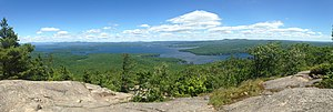 Mount Major - Panoramic view from Mount Major